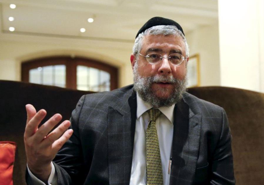 Rabbi Pinchas Goldschmidt.