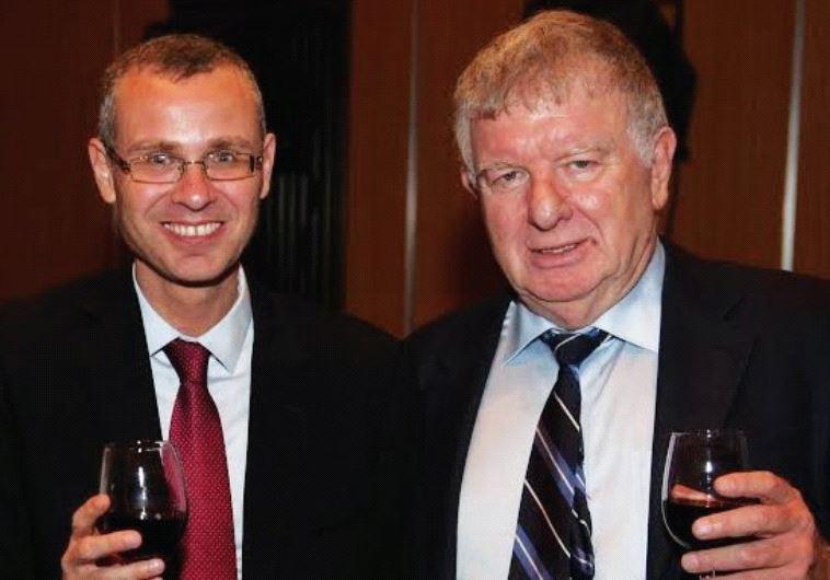 TOURISM MINISTER Yariv Levin (left) with Eli Gonen, president of the Israel Hotel Association.