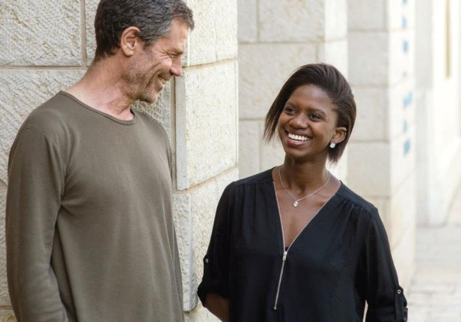 SOUTH AFRICAN dancer Londiwe Khoza with her Israeli mentor Ohad Naharin at the Suzanne Dellal Center