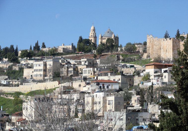 Homes in the eastern Jerusalem neighborhood of Silwan, pictured above