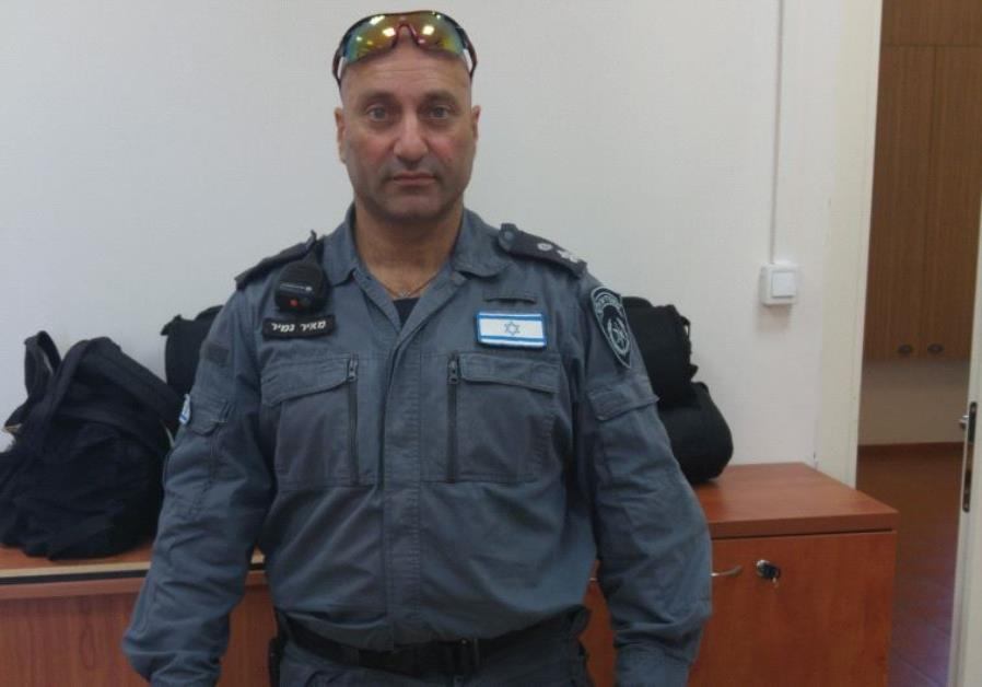 YASAM Special Patrol Unit head Meir Namir at Jerusalem's Russian Compound Police Station Monday.