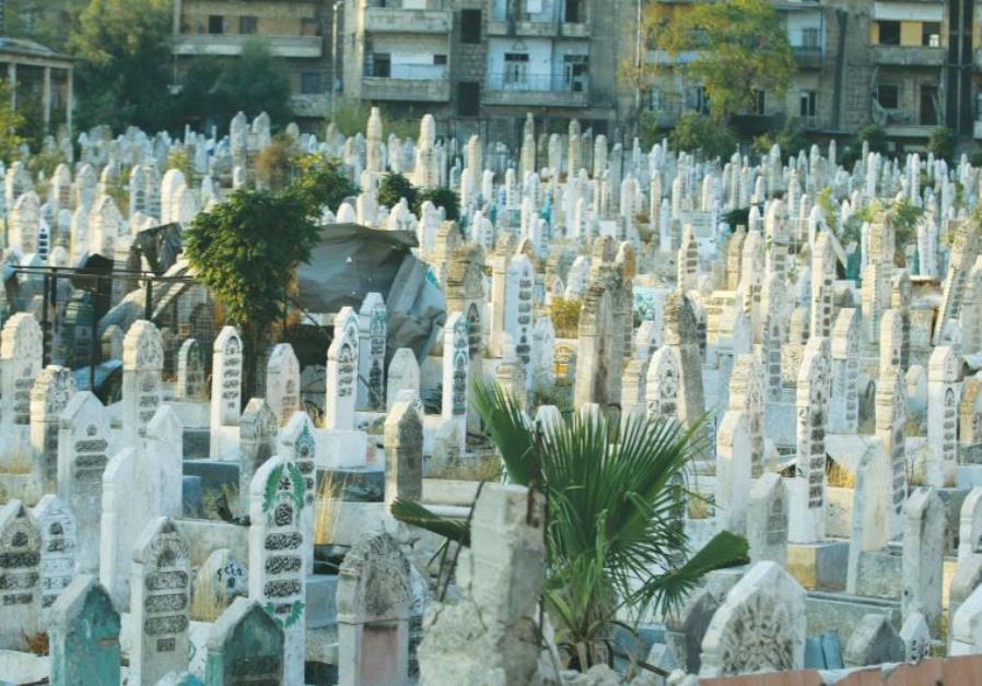 A CEMETERY in Aleppo, Syria.
