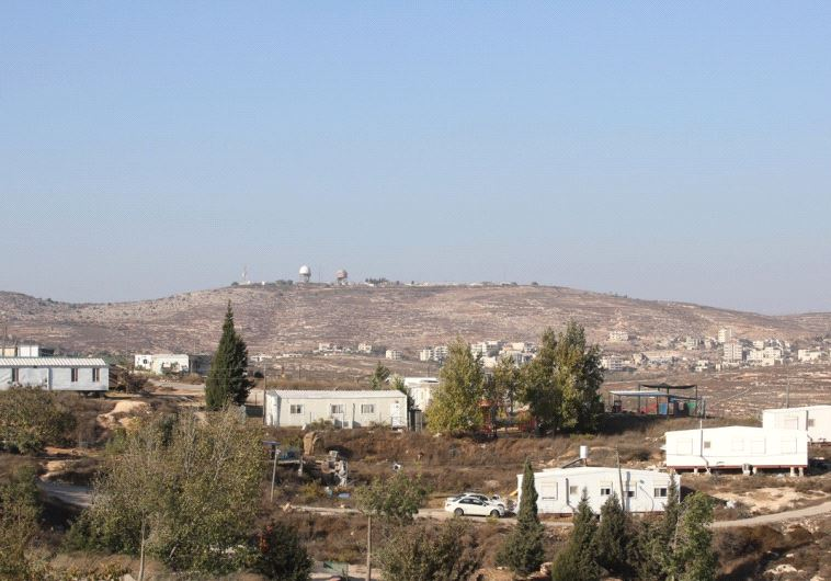 THE AMONA OUTPOST is seen in the Binyamin region of the West Bank