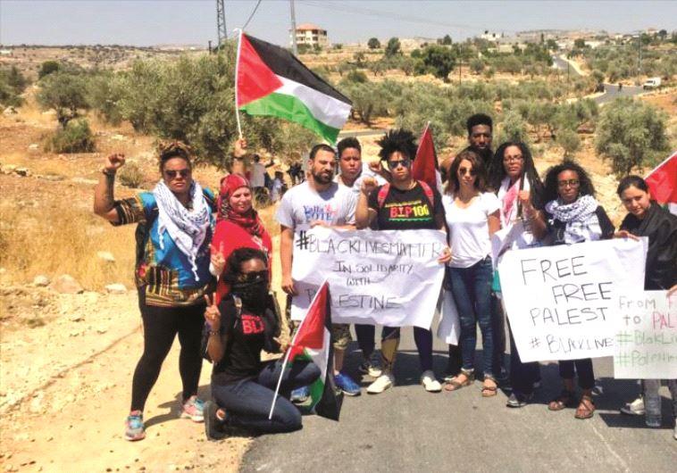 Militants de BLM à Bilin, village palestinien de la région de Ramallah