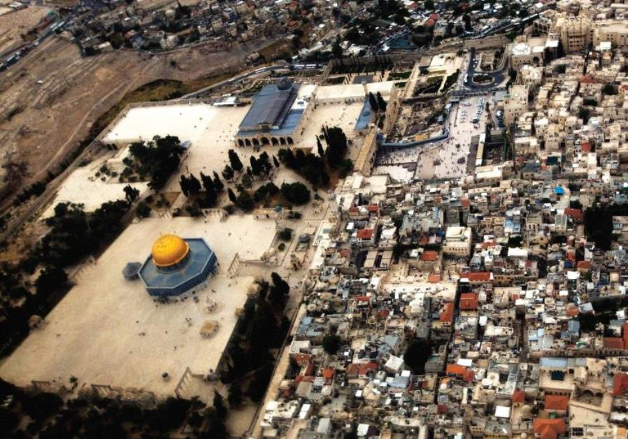 AN AERIAL view of Jerusalem's Old City and the Temple Mount.