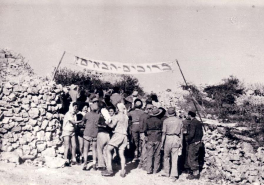 The Palmah members founding the kibbutz in 1948.