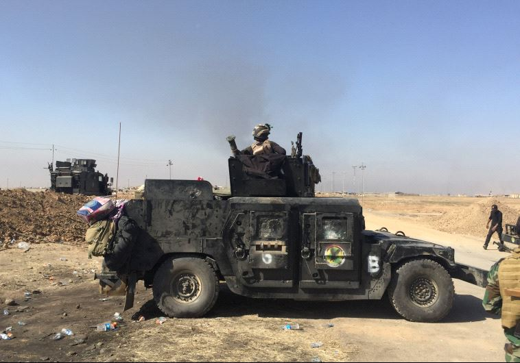 Iraqi forces outside Mosul.