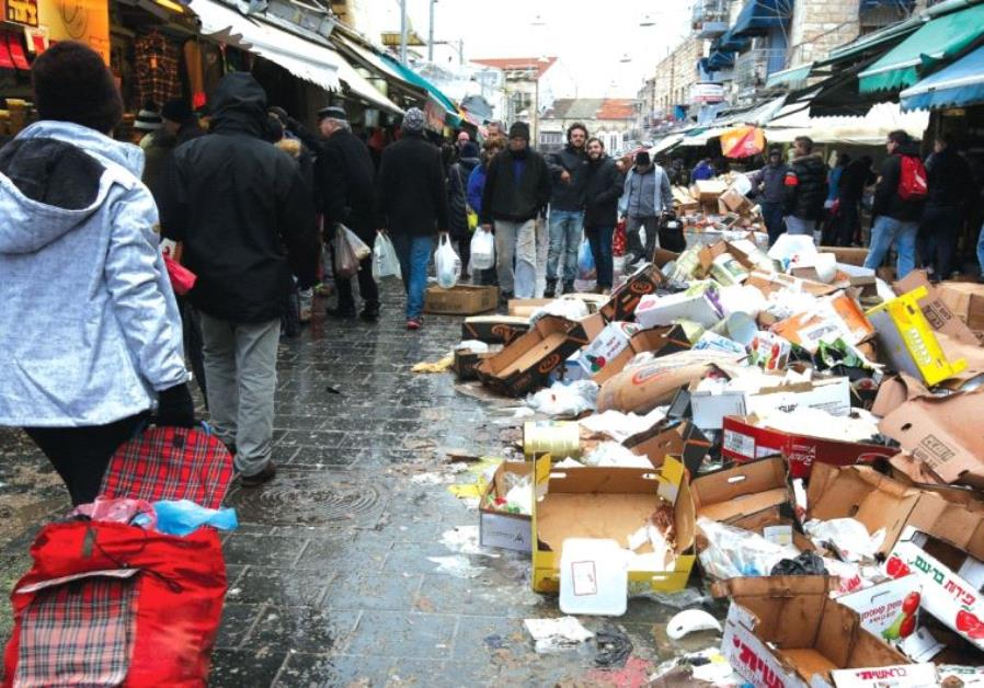 Garbage in Jerusalem