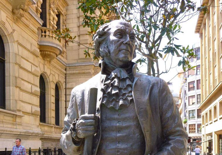A John Adams statue in Bilbao, Spain.