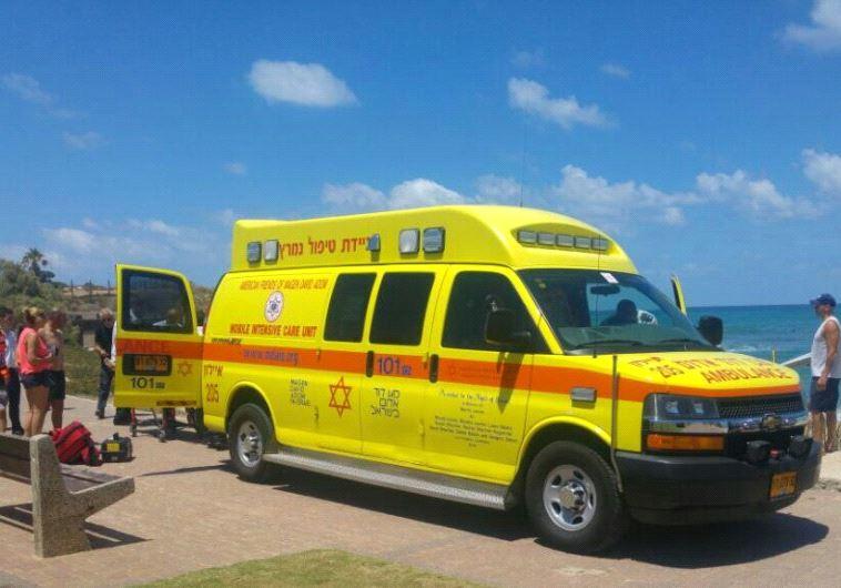 Magen David Adom ambulance.