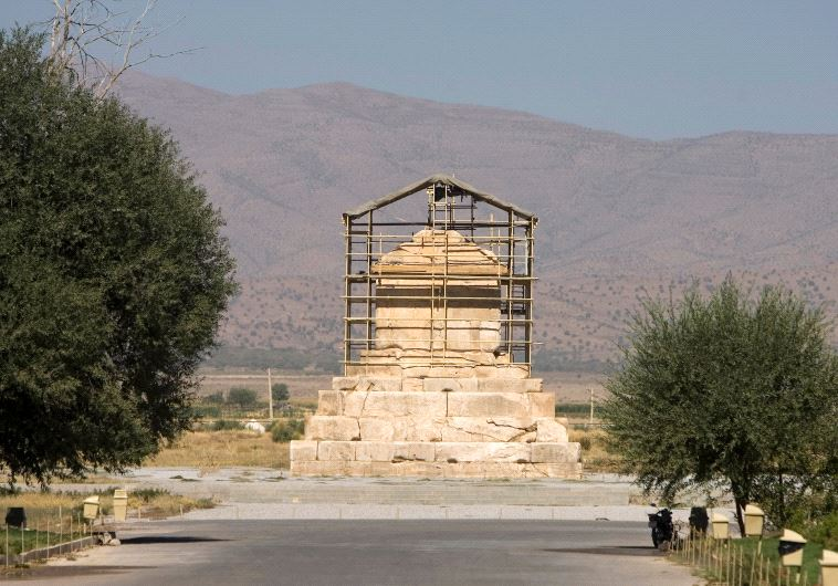 The tomb of Cyrus the Great, a revered King of the Persian Empire, is seen at Pasargadae outside Shi