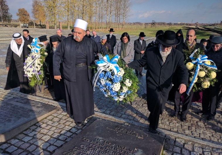 The Council of Religious Community Leaders in Israel on an official visit to Poland to honor the vic
