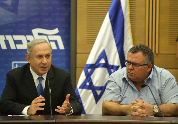 Prime Minister Benjamin Netanyahu and Likud MK David Bitan.