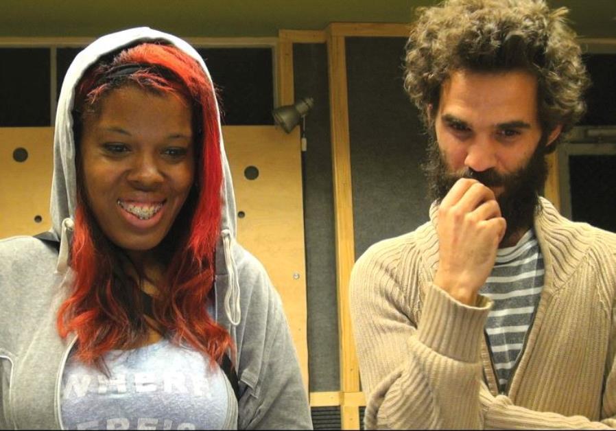 ISRAELI COMPOSER and video artist Ophir Kutiel (Kutiman) with Samantha Montgomery (Princess Shaw).