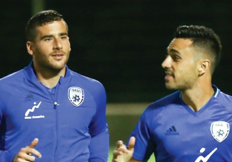 The main topic of conversation at Israel's training session yesterday was the security concerns that