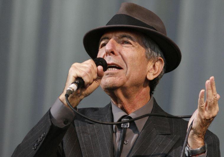 Canadian singer-songwriter Leonard Cohen performs