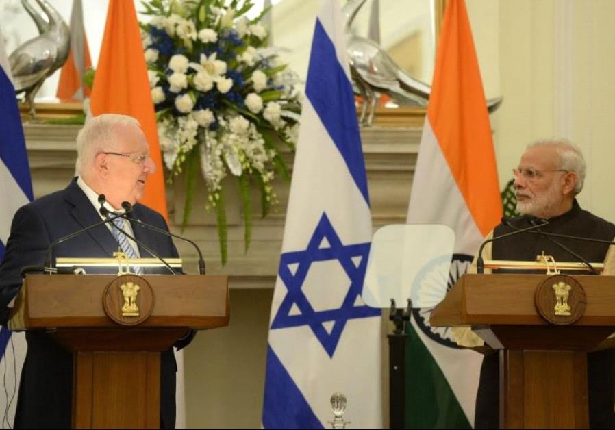 President Rivlin meets Prime Minister Modi of India