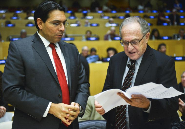 Danny Danon and Alan Dershowitz