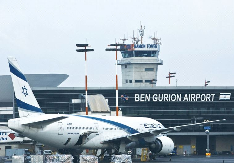 AN EL AL Boeing 777 aircraft is seen at Ben-Gurion Airport