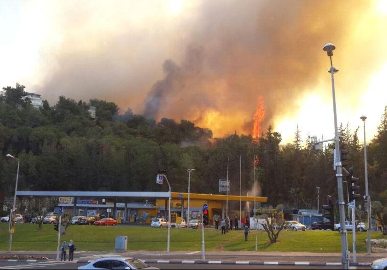Fire in Haifa