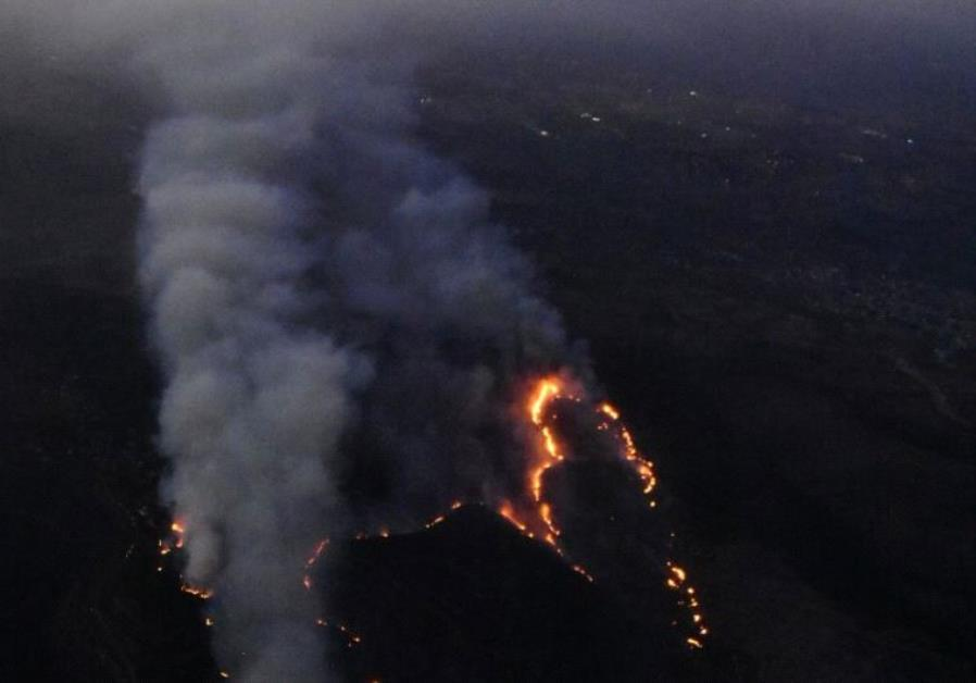 Fires near Jerusalem.
