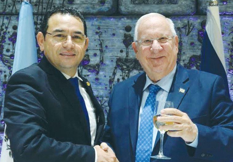 GUATEMALAN PRESIDENT Jimmy Morales with President Reuven Rivlin.