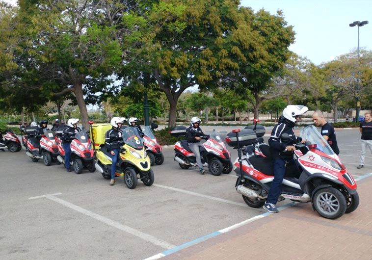 Motorcycle unit of Magen David Adom