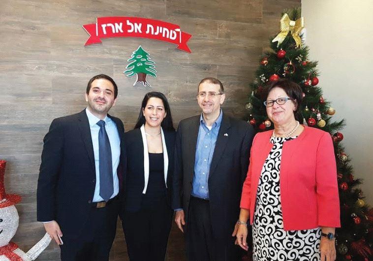 YOSEF, LENA and Julia Zohar with US Ambassador Dan Shapiro (second from right).