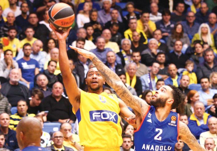 Maccabi Tel Aviv guard Andrew Goudelock