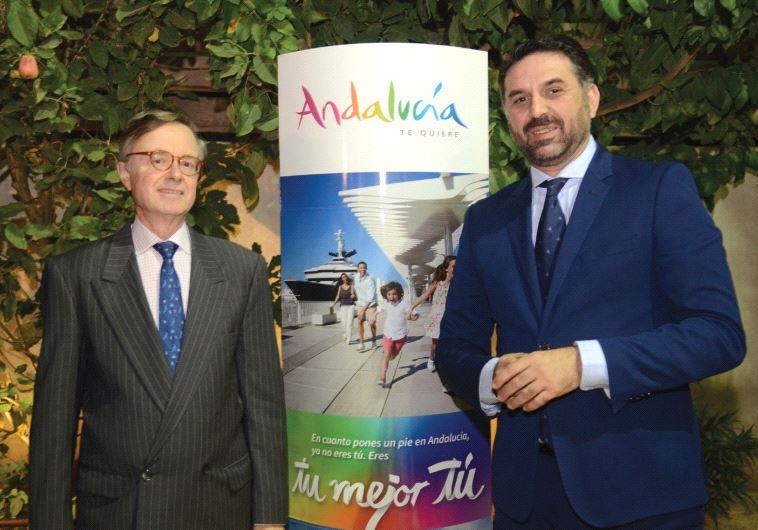 SPANISH AMBASSADOR Fernando Carderera Francisco (left) with Javier Hernandez, tourism minister of An