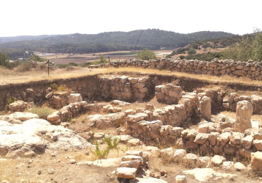 Khirbet Qeiyafa dans la vallée d'Elah