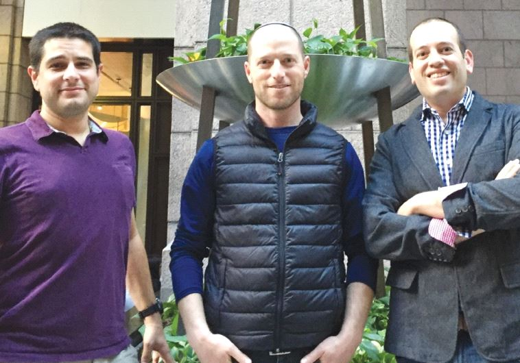 IN JIFITI'S MODI'IN office are (from left) chief technology officer Meir Dudai, CEO Yaakov Martin an