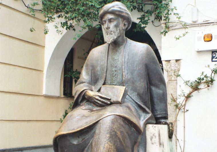 The statue of Maimonides
