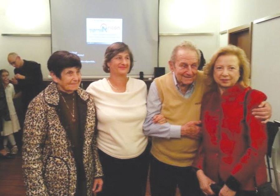 FROM LEFT: Theresienstadt survivor Hana Weingarten; Tami Kinberg, the director of Beit Theresienstad