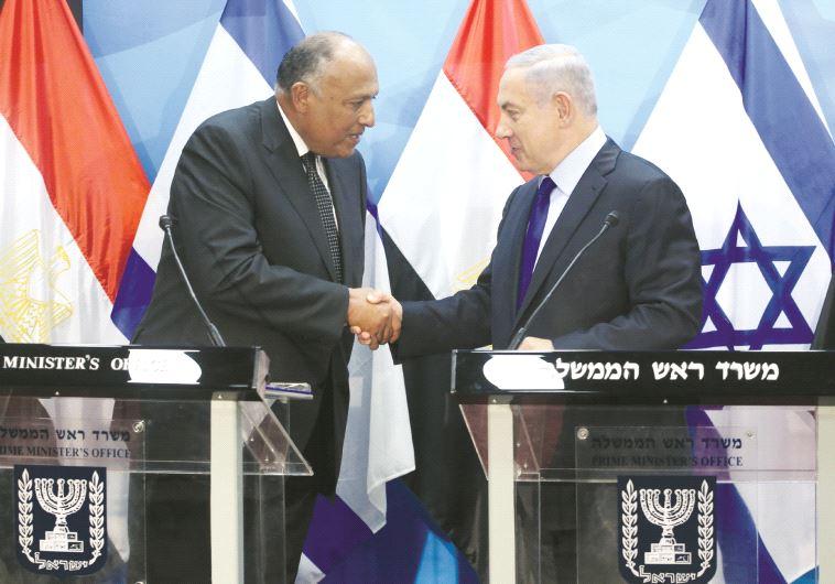 Rencontre entre le Premier ministre israélien et Sameh Shoukry, en juillet à Jérusalem