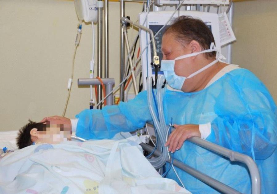 Almog Grabli, heart recipient, at Schneider Medical Center