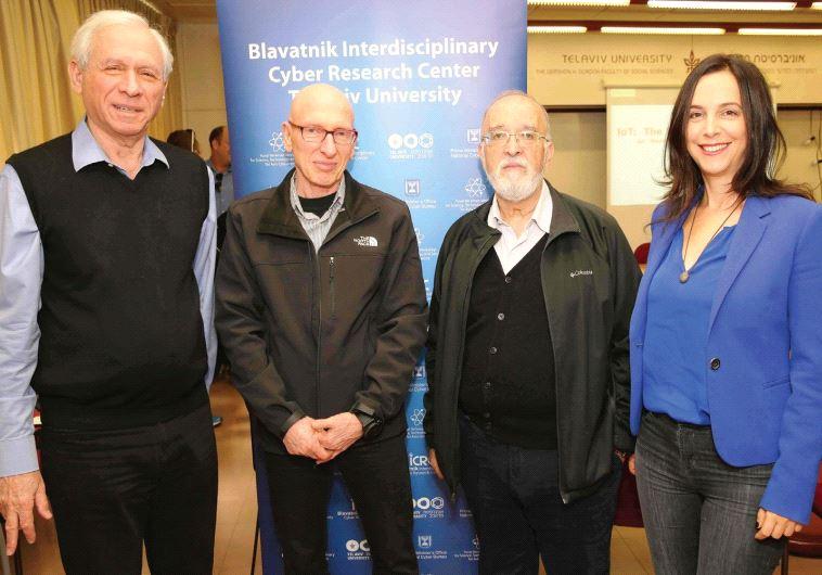 Zohar Zisapel, Dov Baharav, Isaac Ben Israel and Gili Drob-Heistein.