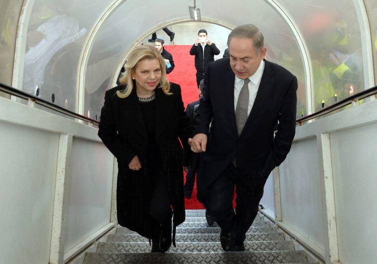 Prime Minister Benjamin Netanyahu and his wife Sara Netanyahu en route to Azerbaijan and Kazakhstan.