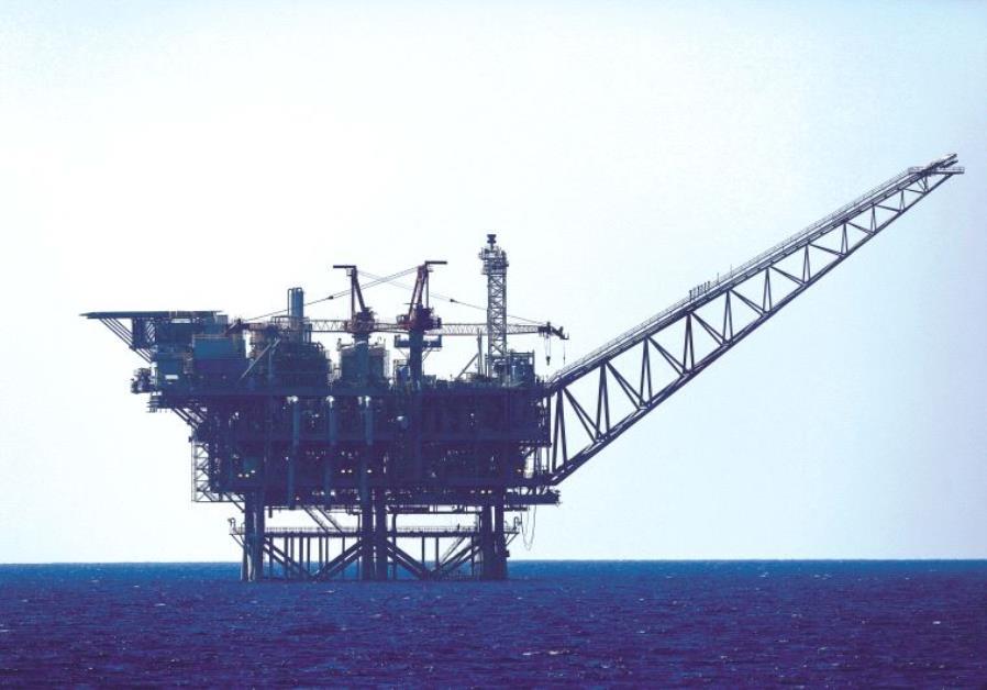 Plateforme gazière israélienne en Méditerranée