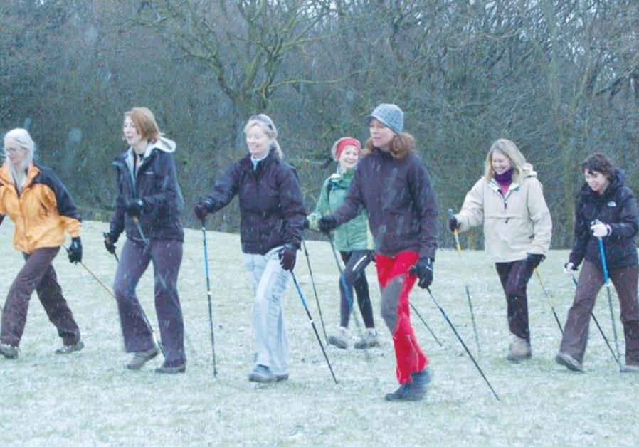 A NEW STUDY exhibits the health benefits of walking with Nordic poles.
