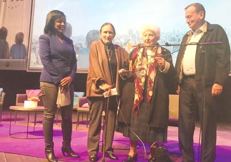 Tel Aviv Deputy Mayor Mehereta Baruch-Ron, Yael Dayan, Ruth Dayan and Tel Aviv Mayor Ron Huldai.