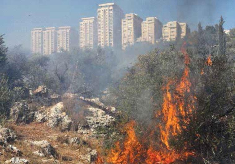 Fire in Jerusalem