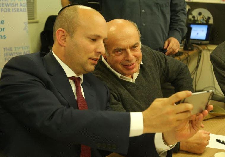 Jewish Agency Chairman Natan Sharansky and Israeli Minister of Education and Diaspora Affairs Naftal