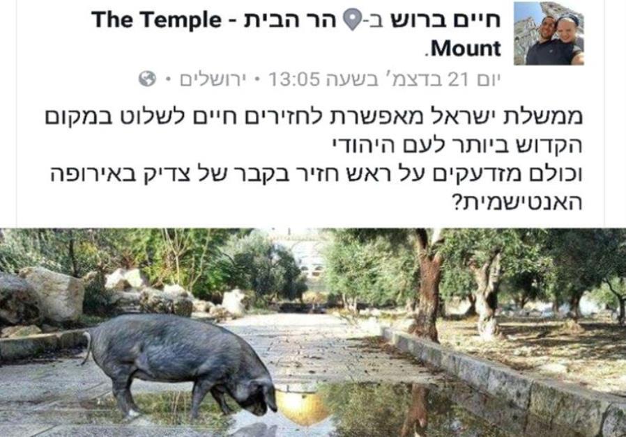 Haim Brosh's offending Facebook post