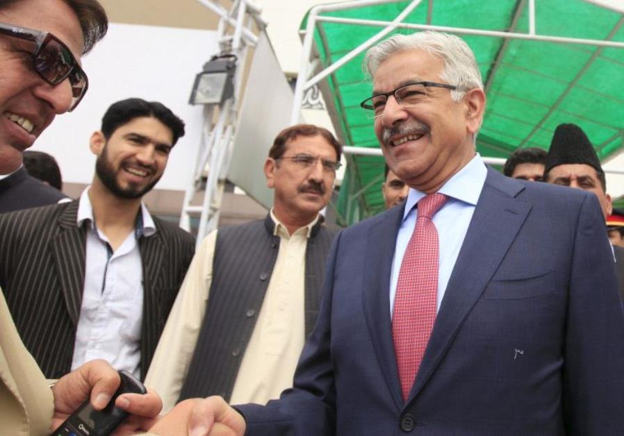 Pakistan's Defense Minister Khawaja Asif