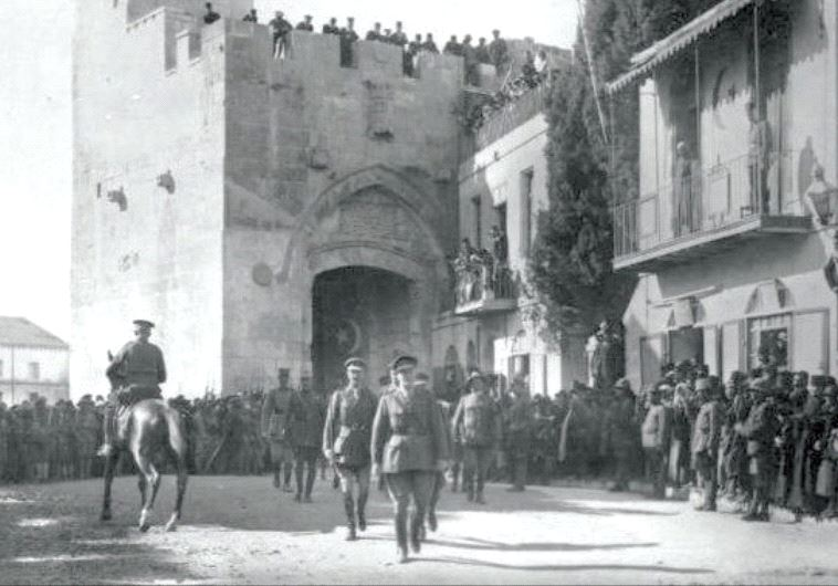 DISMOUNTED GENERAL Edmund Allenby enters the Old City of Jerusalem by foot in 1917 to show respect f