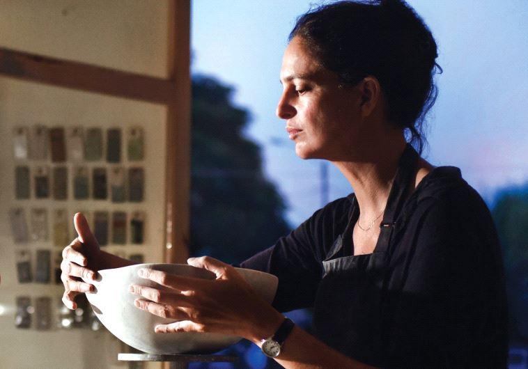 SCULPTOR IRIS NESHER at her studio in Ramat HaSharon.