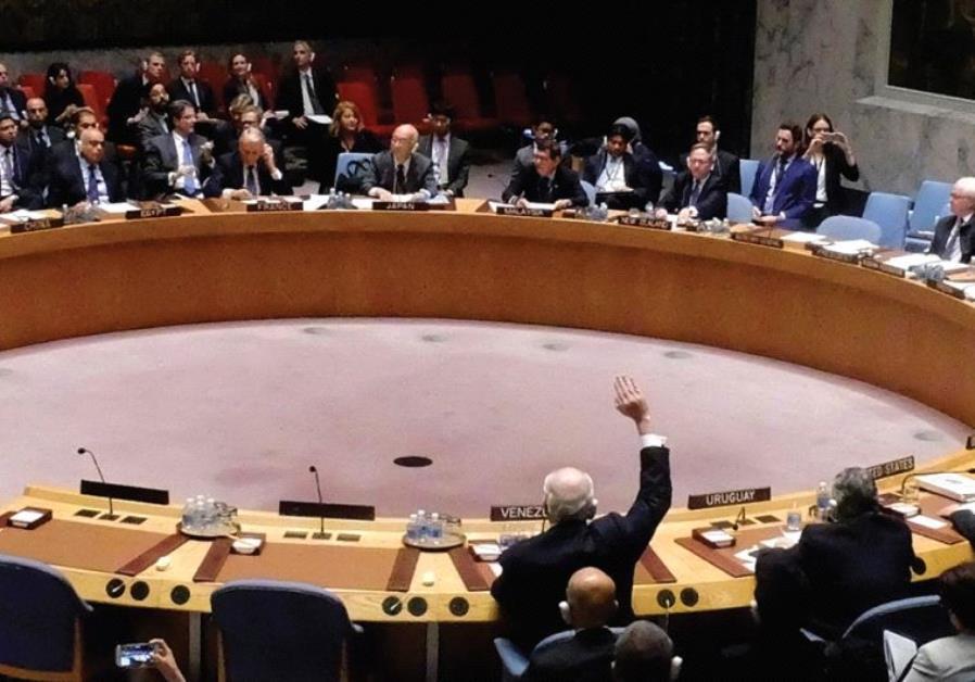 UN security council votes on resolution 2334