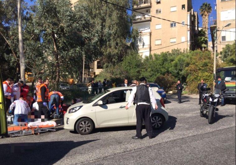 Shooting on Hagiborim street in Haifa