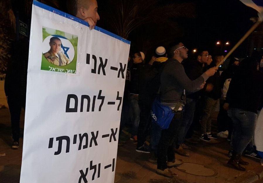 Protest in Tel Aviv for IDF Sgt. Elor Azaria